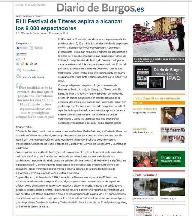 Diario Burgos. 14- junio