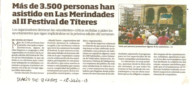Diario de Burgos 18 de julio