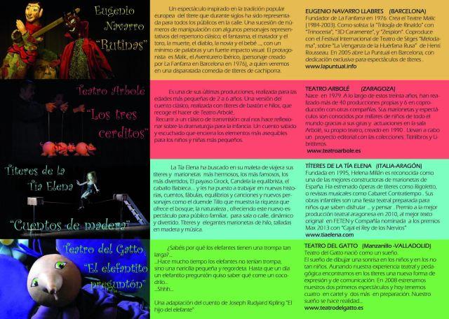 Triptico 2 Cias  2º Festival de Títeres de las Merindades
