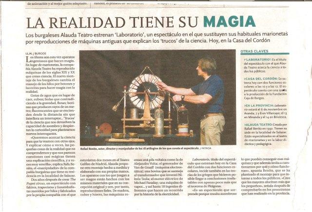 Laboratorio Diario de Burgos 22 de octubre 2013